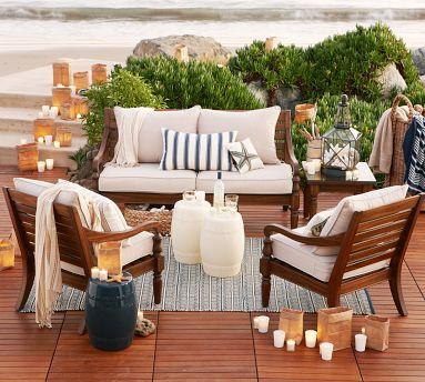 Decora o e projetos varandas de casas de praia decoradas for Muebles para balcon exterior pequeno