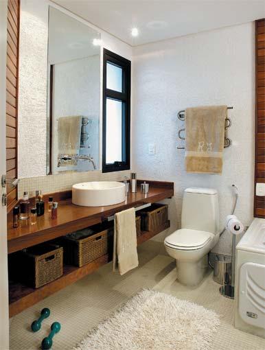Decoração e Projetos BANHEIROS DECORADOS COM BANCADA DE MADEIRA -> Banheiros Decorados Incepa
