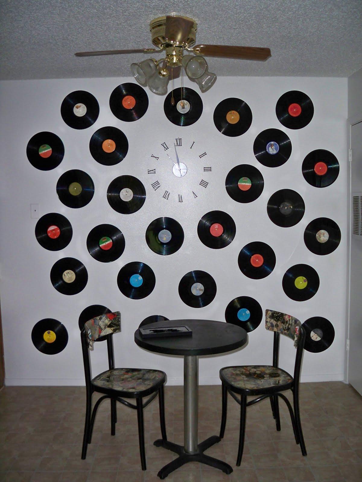Decora o e projetos decora o com disco de vinil fotos - Decoracion con discos de vinilo ...