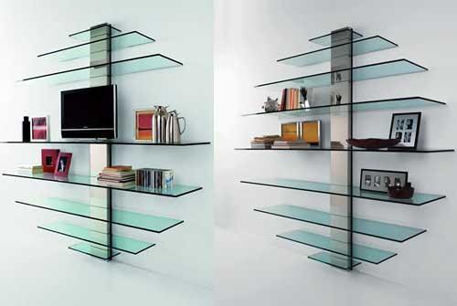 Decora o e projetos decora o com prateleiras de vidro for Soporte estanteria ikea