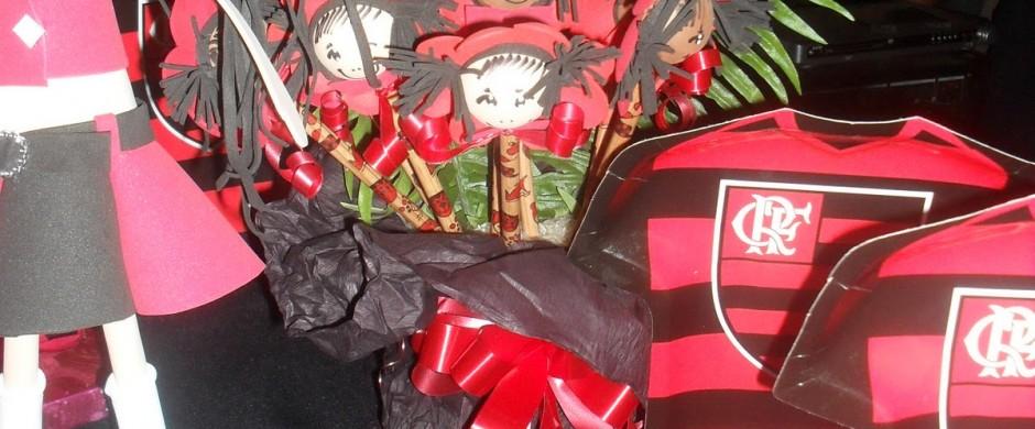 decoração de festa infantil do flamengo com camisa