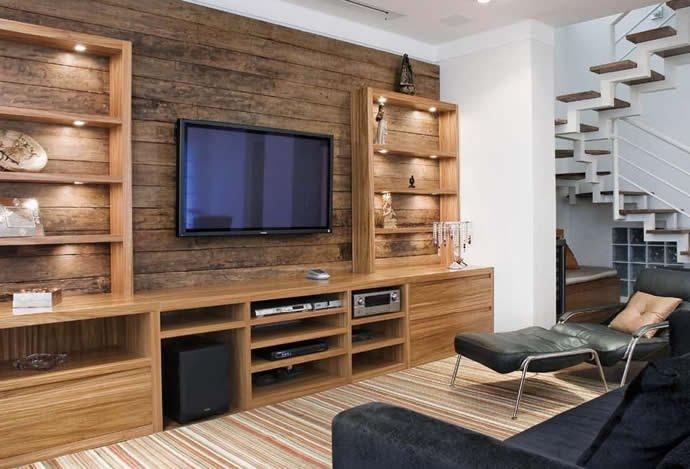 decoracao de sala rack:Decoração e Projetos – Decoração de rack com painel