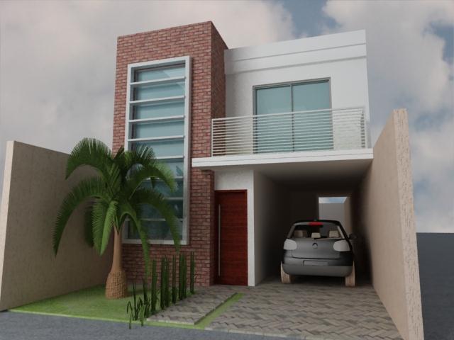 Decora o e projetos fachadas de casas com tijolinhos for Modelos de fachadas de viviendas modernas