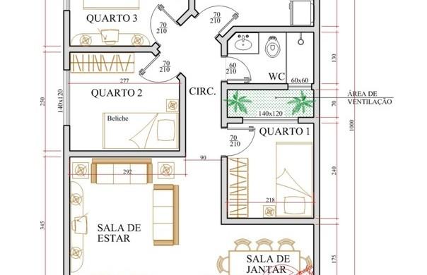 Decora O E Projetos Plantas De Casas Com Rea De Ventila O