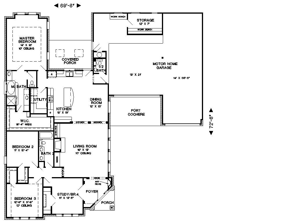 Planta de casa em l projeto casa montreal para terrenos for Realizar planos de casas