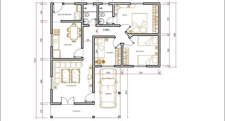 decora o e projetos plantas de casas em formato de l