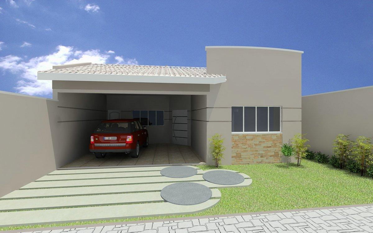 Decora o e projetos projetos de casas modernas e for Casas pequenas modernas y bonitas