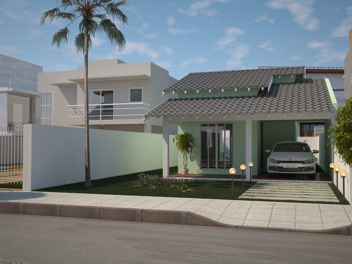 Casas Simples e Lindas com 3 Quartos e Garagem
