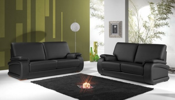 decoracao sofa branco:Decoração e Projetos – Salas com sofás pretos na decoração