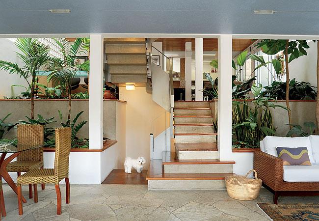Fotos De Escadas Na Sala De Jantar ~ Decoração e Projetos SALAS DECORADAS COM JARDIM DE INVERNO