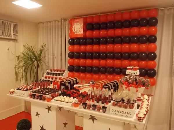 decoração do flamengo para painel do bolo