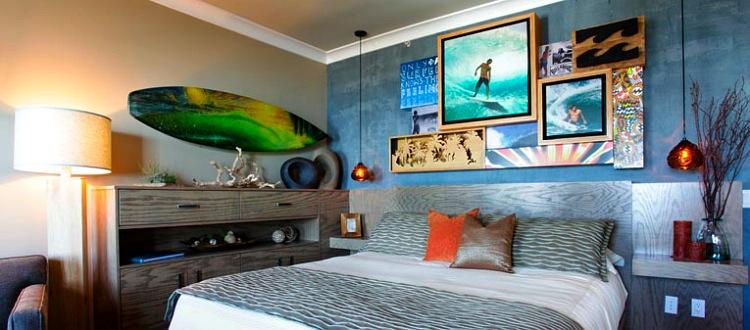 DECORAÇÃO COM PRANCHA DE SURF