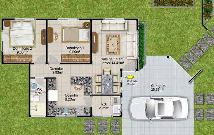 plantas de casas alto padrão