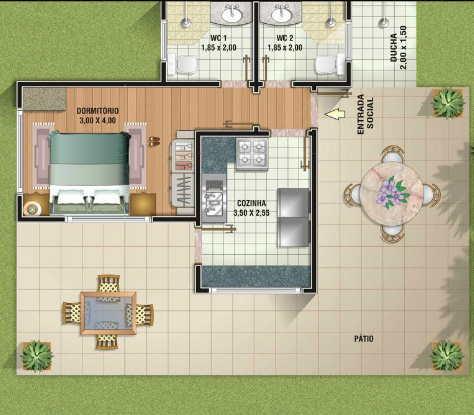 projetos de casas na planta