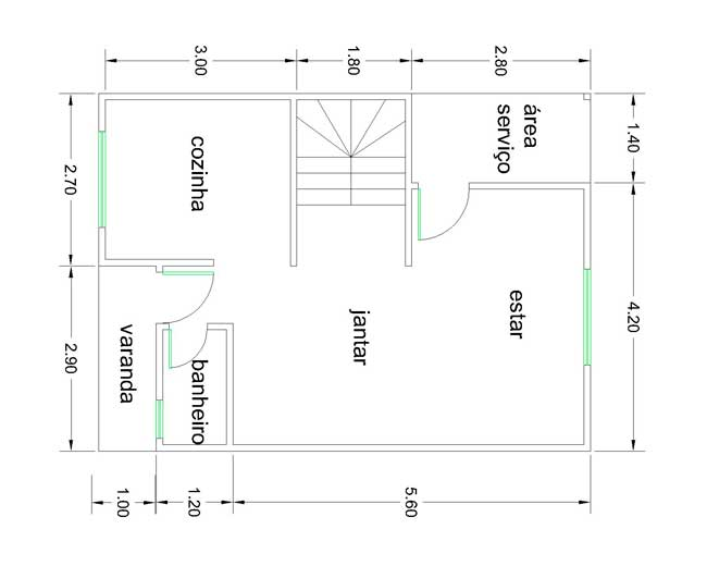 planta baixa de casas geminadas duplex