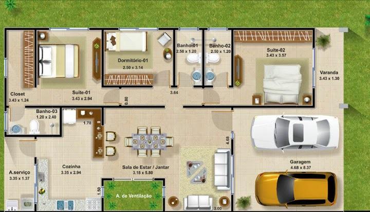 projetos de casas com area de ventilação