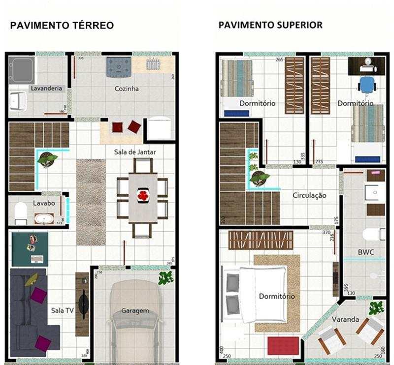 Decora o e projetos plantas de casas com medidas gr tis for Casa moderna 2 andares 3 quartos