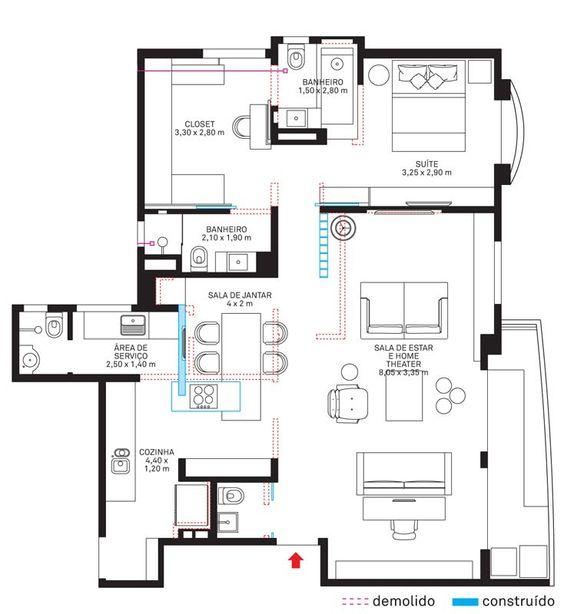 plantas de casas simples com suite