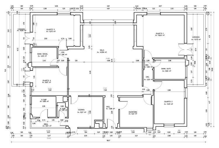 plantas de casas com 4 quartos gratis