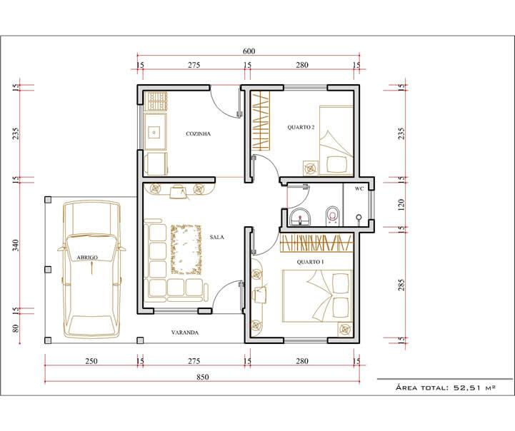 Plantas de casas com medidas gr tis for Plantas arquitectonicas de casas