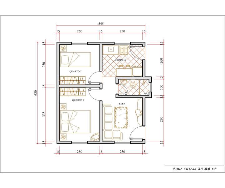 Plantas de casas com medidas gr tis for Precio reforma completa piso 70 metros