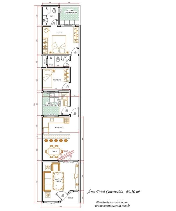Plantas de casas com medidas gr tis for Casas modernas de 5 x 20