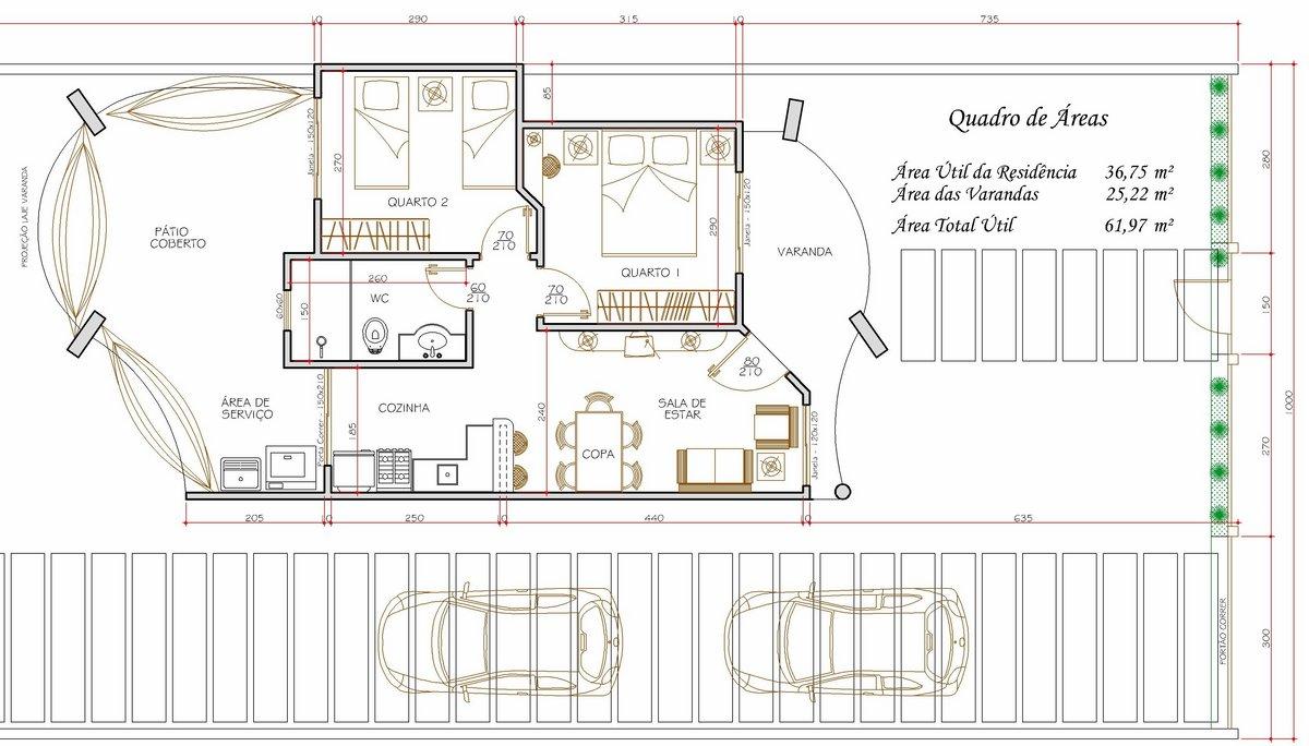 Decora o e projetos plantas de casas com medidas gr tis for Casas modernas de 70m2