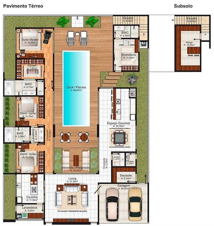 plantas de casas super modernas