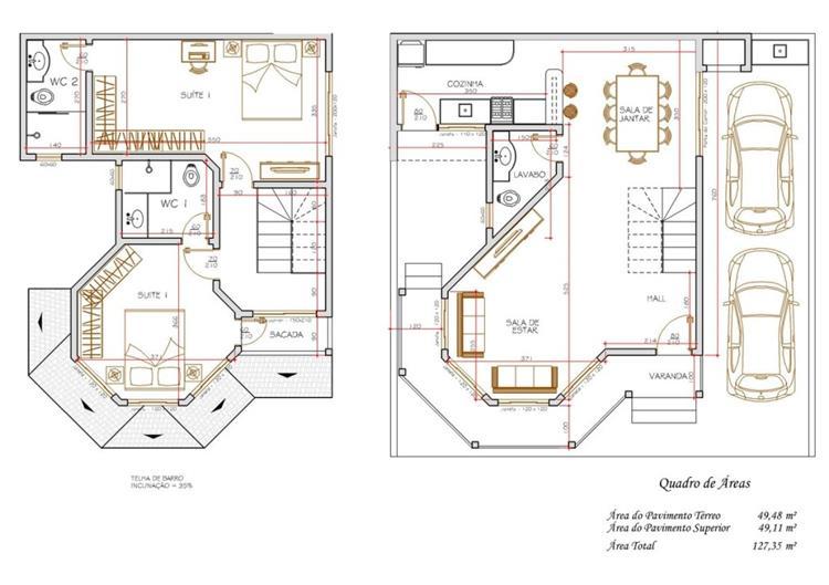 projetos de casas duplex com garagem