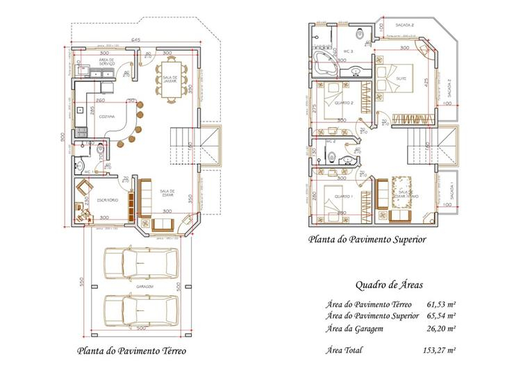 casas de dois andares bonitas