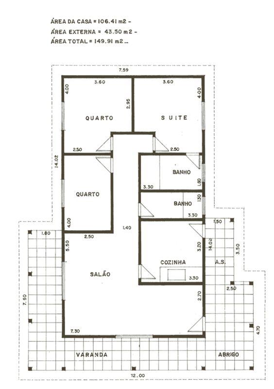 projetos de casas com varanda