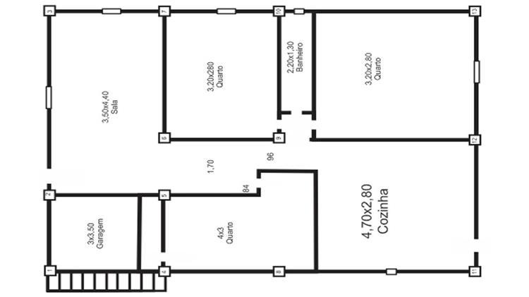 plantas de casas baratas com 3 quartos