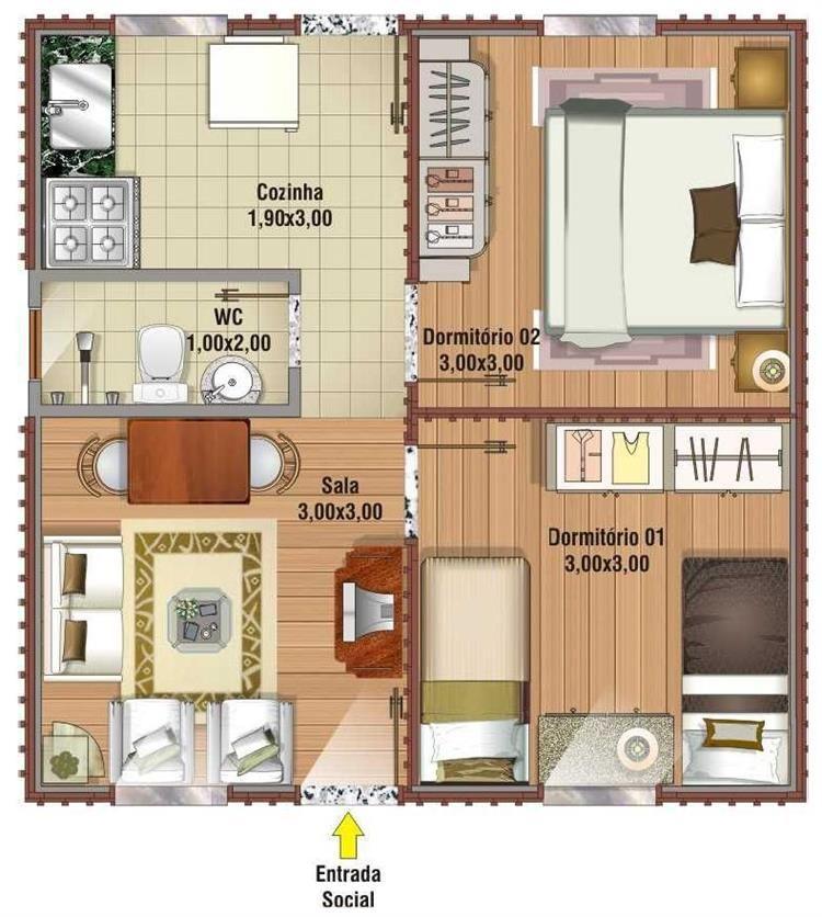 plantas de casas pequenas para sitios