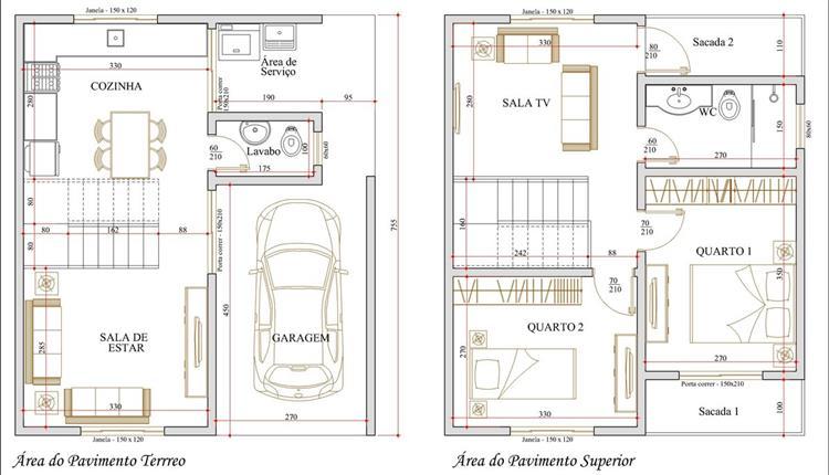 plantas de casas modernas com 2 pisos gratis