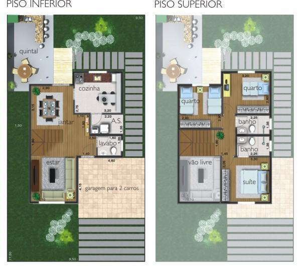 projetos de casas com quintal pequeno