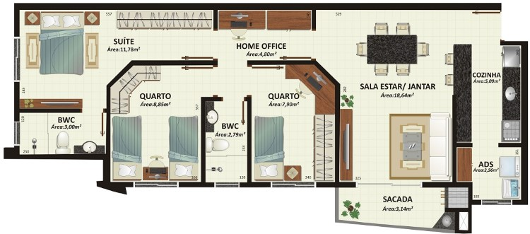 projetos de casas com home office