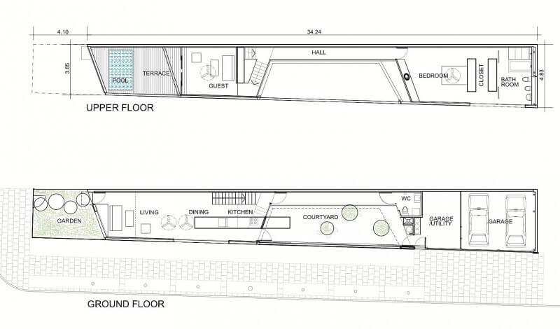projetos de casas de 2 pavimentos pequenas