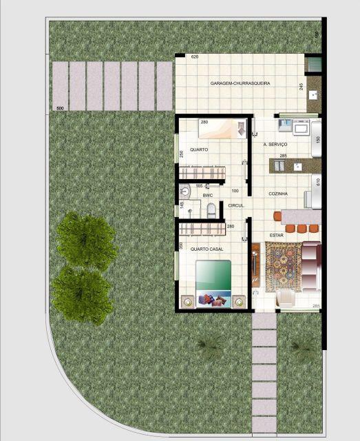 plantas de casas de esquina simples