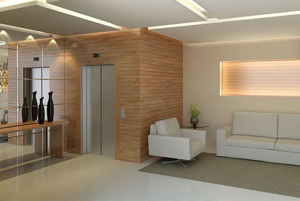 Decora o e projetos decora o de hall de elevador - Decoracion hall de entrada edificios ...