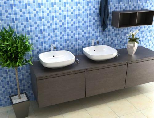 Decoração e Projetos BANHEIROS DECORADOS COM PASTILHA AZUIS -> Decoracao De Banheiro Com Pastilhas Azul