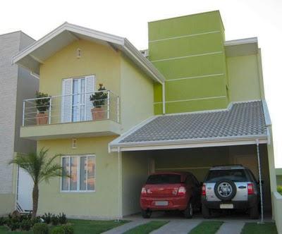 Frentes de casa bonitas e simples - Fachadas de casas pintadas ...