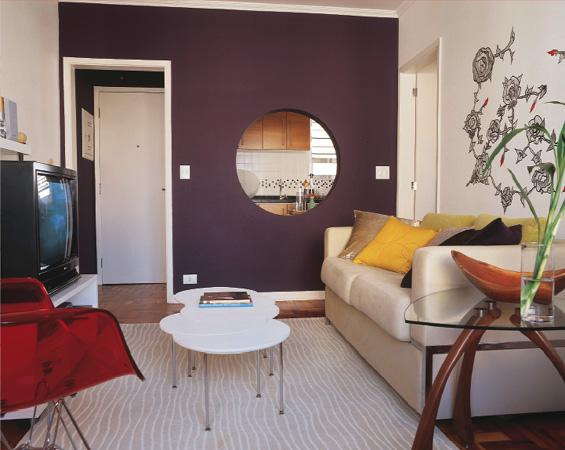 Sala De Tv Pequena Ideias ~ Decoração e Projetos – Idéias para decorar uma sala pequena