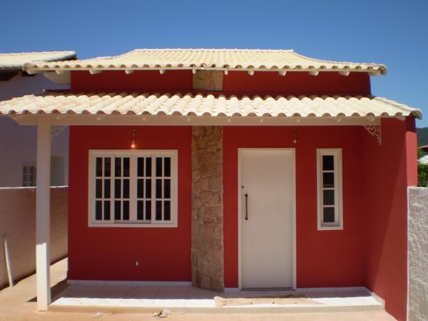 Frentes de casa bonitas e simples for Pinturas bonitas para casas