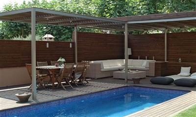 Decora o e projetos decora o de terra o com piscina for Tumbonas piscina baratas
