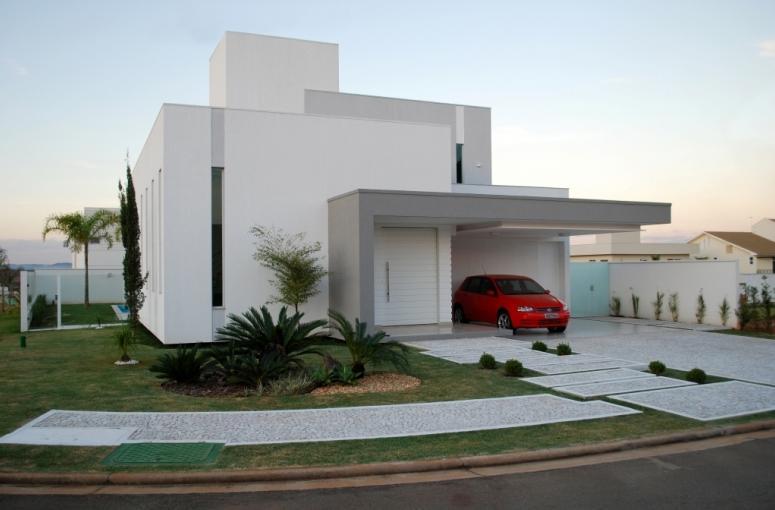 Decora o e projetos frentes de casa bonitas e simples for Cores modernas para fachadas de casas 2016