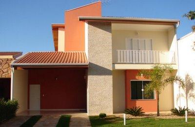 Frentes de casa bonitas e simples for Fachadas de frentes de casas modernas