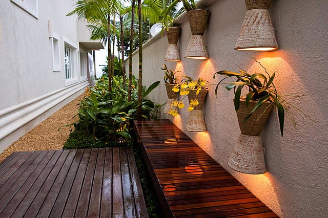 iluminacao jardim interno:Decoração e Projetos – Decoração para corredor externo com fotos