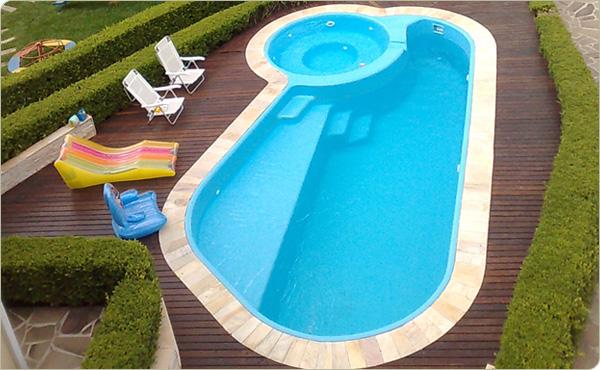 Decora o e projetos decora o de piscinas de fibra - Piscina redonda fibra ...