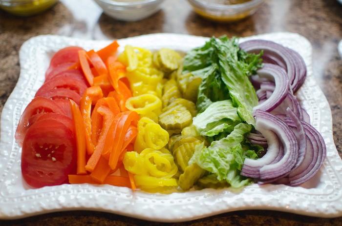 decoração de pratos com salada