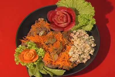 decoração de pratos com legumes passo a passo